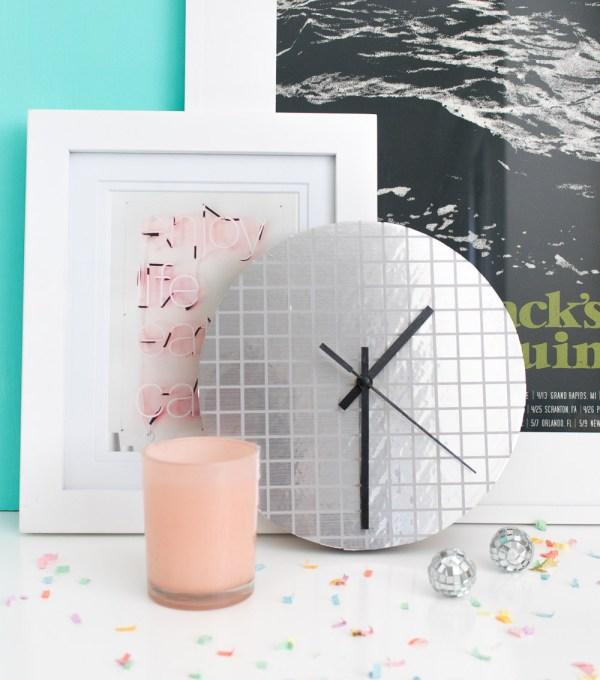 DIY Disco Ball Clock   Club Crafted