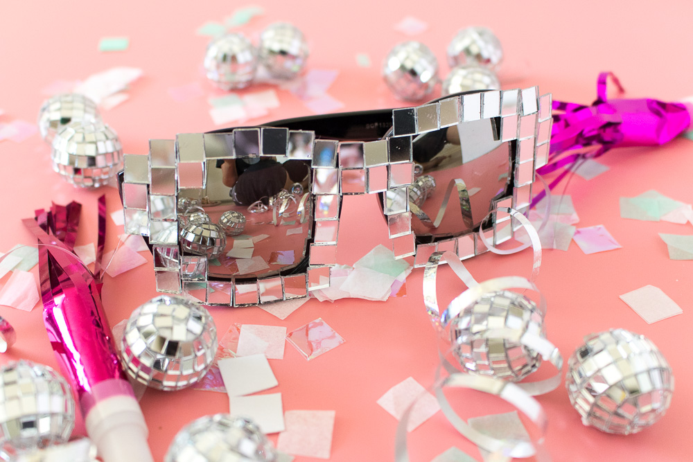 DIY Disco Ball Glasses | Club Crafted