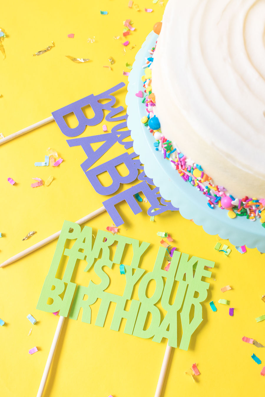 Printable Cake Toppers for Birthdays + SVG Templates! | Club Crafted