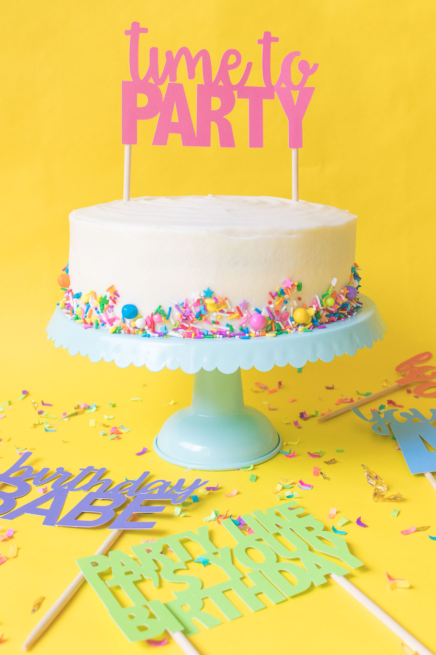 Printable Cake Toppers for Birthday Parties
