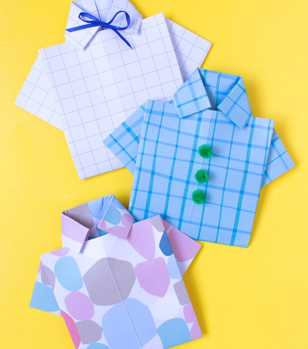 DIY Origami Paper Shirt Card for Father's Day   Club Crafted