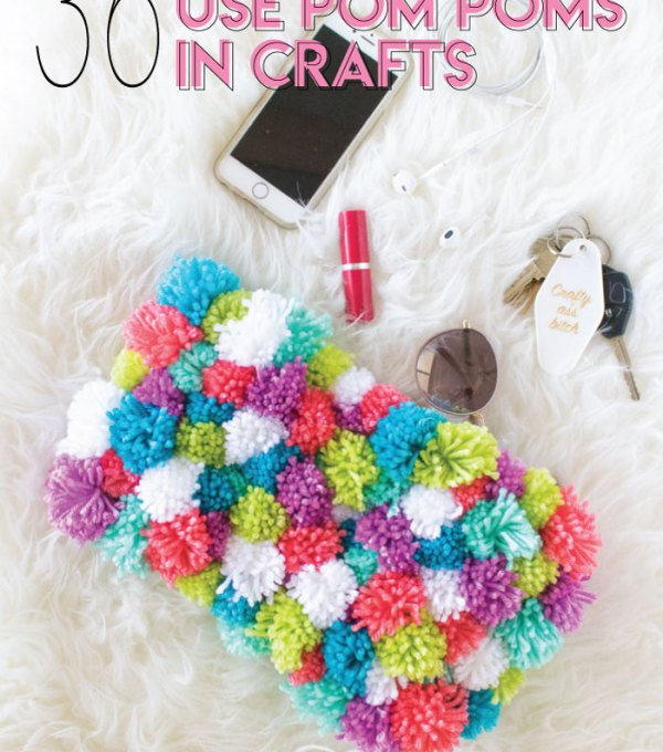 Fun Ways to Use Pom Poms in Crafts / Check out this roundup of pom pom ideas for making everything from home decor to upcycled fashion! These fun pom pom crafts include something for everyone / #pompoms #diyideas #yarn #homedecor #crafts #fashiondiy