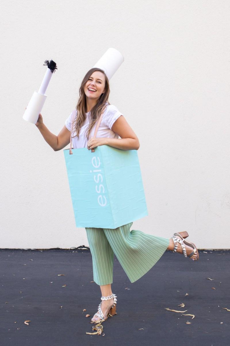 woman wearing nail polish Halloween costume