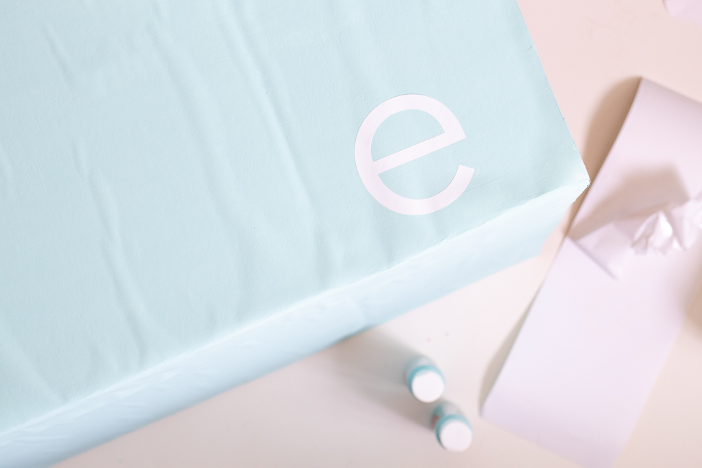 applying vinyl letters for essie nail polish logo