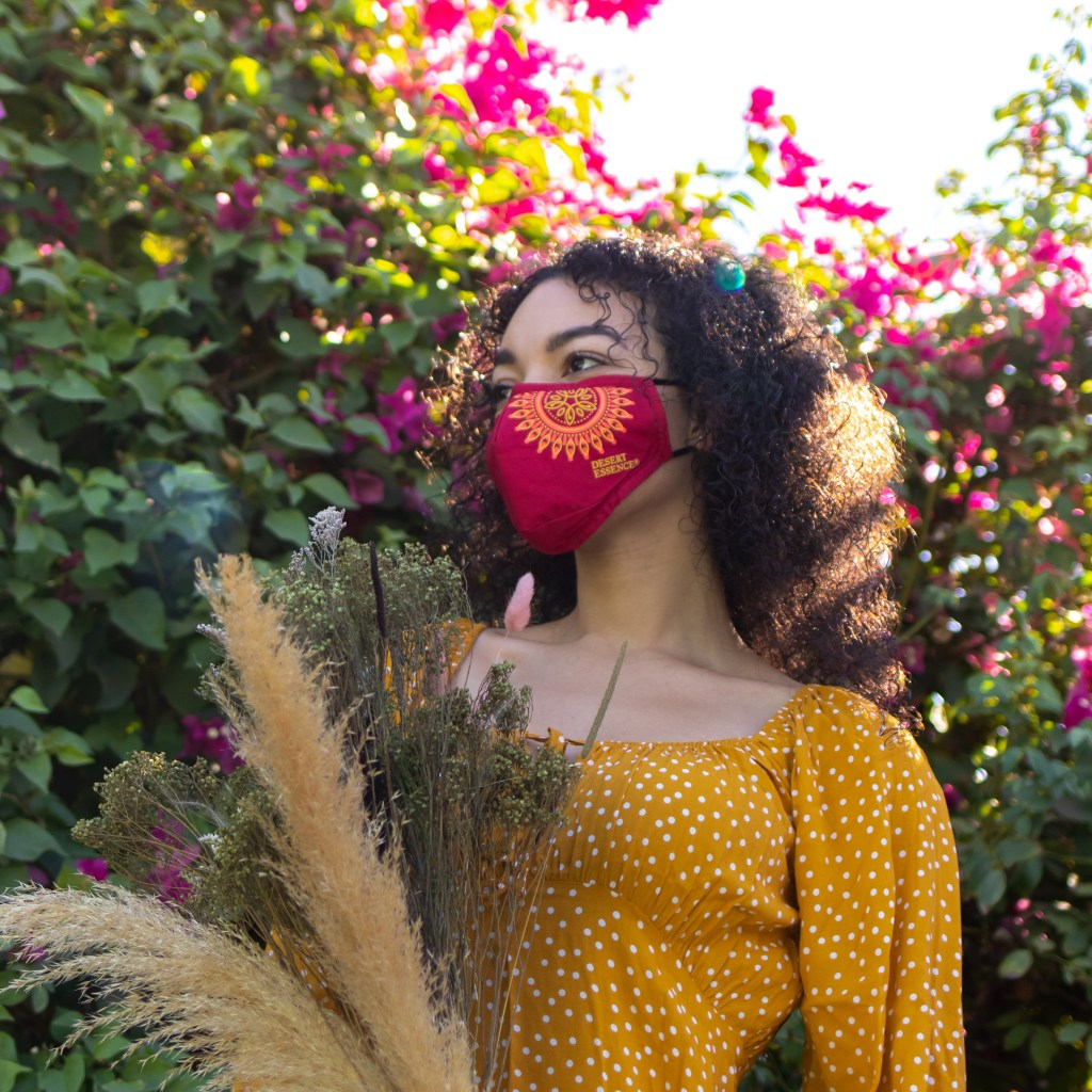 woman wearing mask for beauty brand photography