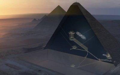Cientistas confirmam existência de espaço escondido na Grande Pirâmide do Egito