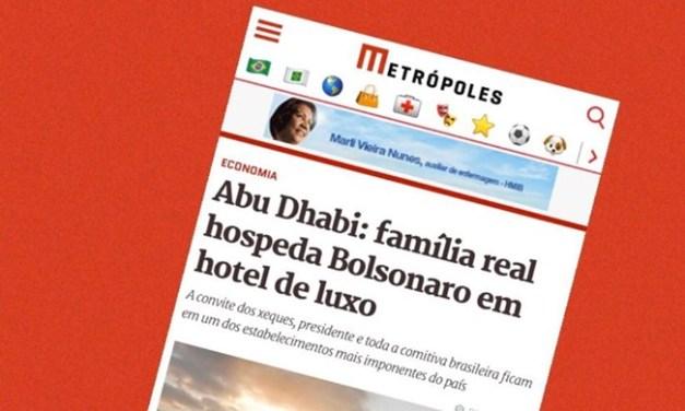 Fake News sobre Bolsonaro no Catar