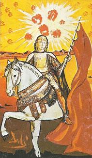 Resultado de imagem para cavaleiro ouros tarot