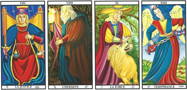 Resultado de imagem para 4 virtudes cardeais tarot