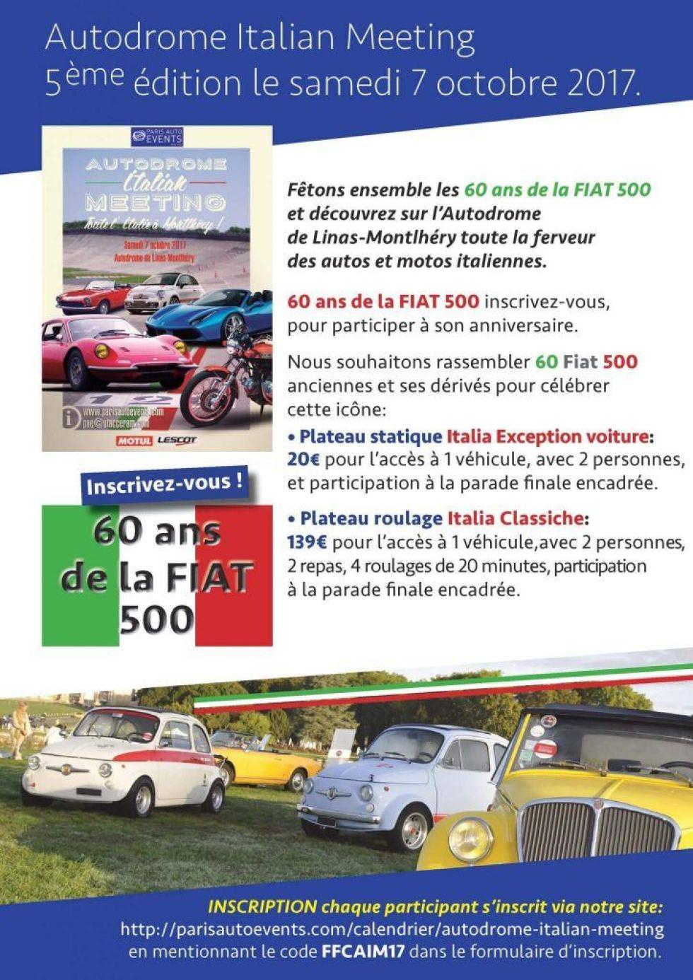 Encontro Italiano Montlhéry 7 Outubro