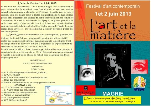 Festival d'art Contemporain 1 et 2 juin 2013