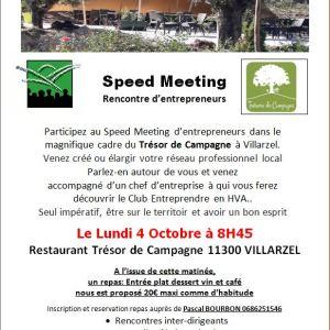 04/10/2021 Rencontre d'entrepreneurs à Villarzel-du-Razès