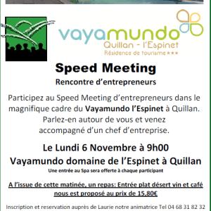 06/11/2017 : Speed Meeting d'entrepreneurs à Quillan