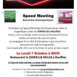 07/10/2019 : Speed meeting à Rouffiac d'Aude