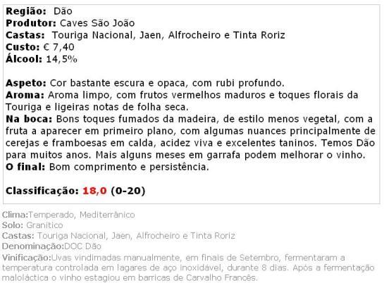 apreciacao PORTA CAVALEIROS DAO T 2012
