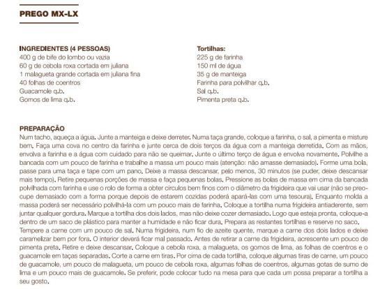 receita Prego MX-LX