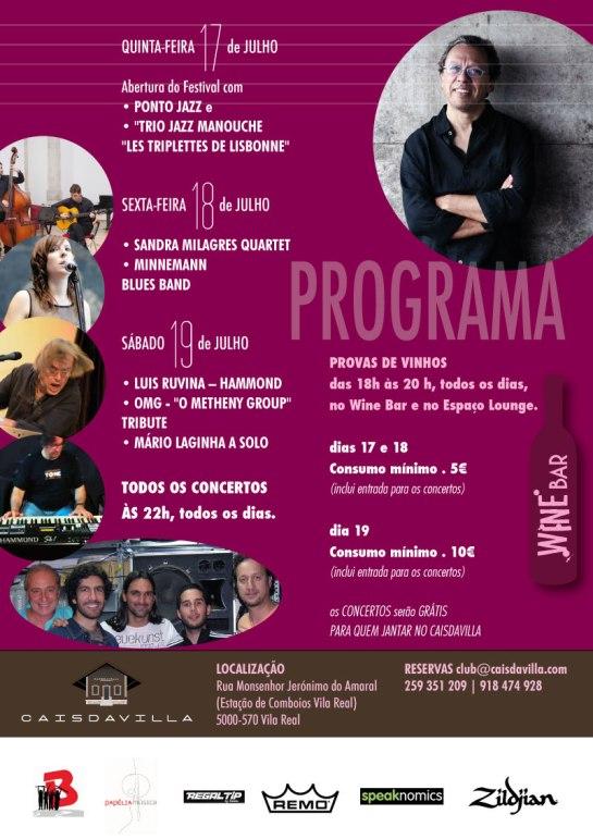 Festival Jazz&Wine 2014 - Flyer Tras