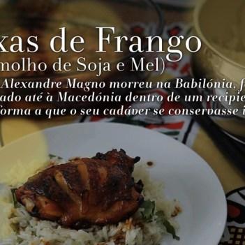 COXAS DE FRANGO (COM MOLHO DE SOJA E MEL)