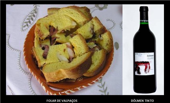 (Receita Tradicional)     1Kg de farinha;  12 ovos mais 1 gema;  350g de gordura (150g de manteiga;  150g de banha;  50g de azeite);  30g de Fermento de padeiro;  1 Frango pequeno corado;  1 Salpicão pequeno;  200g de presunto;  1 Chouriço de carne (linguiça);  Salsa     Peneira-se a farinha com um pouco de sal num alguidar e faz-se uma cova no meio. Desfaz-se o fermento de padeiro em 0,5 dl de água tépida, deita-se na cova da farinha e vai-se envolvendo nela.     Colocam-se os ovos inteiros com a casca numa tigela e cobrem-se com água morna.Alguns minutos depois, abrem-se para dentro da farinha (sempre ao centro) e vai-se  fazendo absorver a farinha trabalhando-a a partir do centro. Derreta as gorduras em lume brando. Junta-se à massa e trabalha-se tudo adicionando agua necessária até obter  uma massa fina. A seguir, bate-se a massa com as mãos até esta se desprender completamente do alguidar.     A massa considera-se bem batida quando aparecem uma bolhas à superfície. Nesta altura polvilha-se a massa com um pouco de farinha, cobre-se com um pano e envolve-se o alguidar com um cobertor. Coloca-se num local tépido e onde possa receber um pouco de calor indireto. A massa leva 2 horas a levedar. Está levedada quando atingir o dobro e apresentar um aspeto rendado. Tem-se um tabuleiro retangular, cujos bordos não devem exceder 8 cm de altura, muito bem untado com banha.     Cortam-se o chouriço e o salpicão às rodelas, o presunto às tiras e desossa-se o frango limpando-o de peles e ossos e desfazendo-o em febras. Divide-se a massa em três partes, devendo uma delas ser um pouco maior. Estende-se esta parte maior e forram-se com ela o fundo e os lados do tabuleiro. Espalha-se por cima metade da porção das carnes e salsa e cobre-se com a segunda parte da massa, sobre a qual dispõem as restantes carnes. Finalmente, tapa-se o folar com a terceira parte da massa e unem-se os bordos a esta camada final.     Deixa-se levedar novamente o folar até aparecerem bolhinhas a superfíc