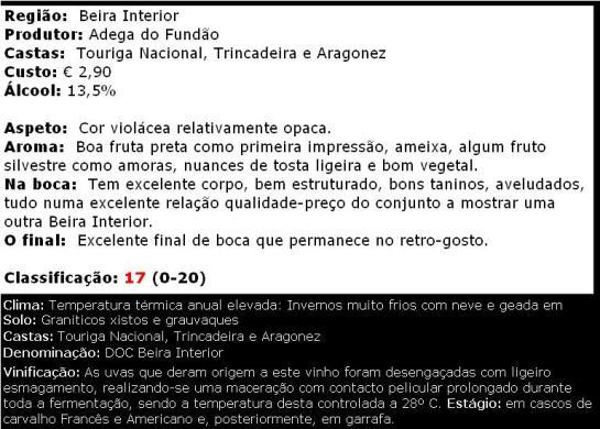 apreciacao Alpedrinha Tinto 2009