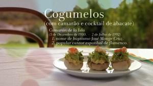 COGUMELOS COM CAMARÃO E COCKTAIL DE ABACATE Chef Henrique Sá Pessoa