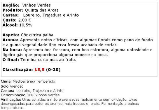 apreciacao Arca Nova Branco 2013