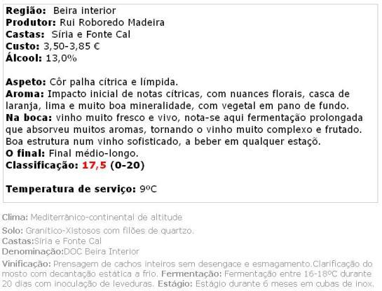 apreciacao Beyra Branco 2013