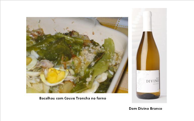 Bacalhau com Couve Troncha no forno  (clique na imagem para ampliar)