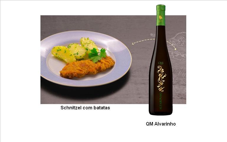 Schnitzel com batatas