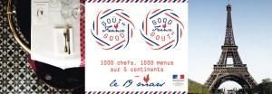 """O Ministério Francês dos Negócios Estrangeiros e do Desenvolvimento Internacional em colaboração com chefs mundialmente conhecidos, propõem um """"menu solidário"""" para celebrar a gastronomia francesa no dia do pai, 19 de março de 2015"""