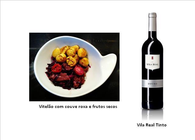 Vitelão com couve roxa e frutos secos (clique na imagem para ampliar)