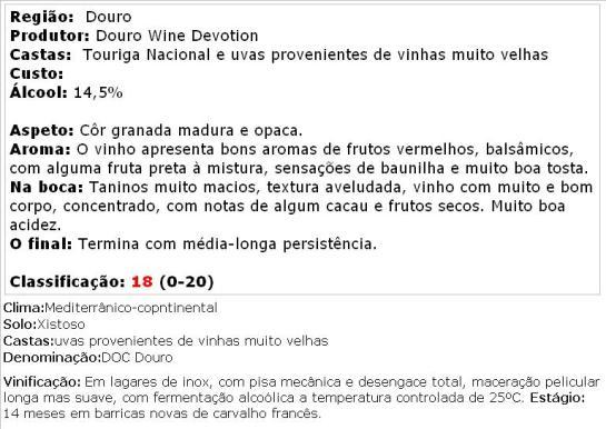 apreciacao Quinta do Cerro da Nora Grande Reserva DOC Douro Tinto 2011