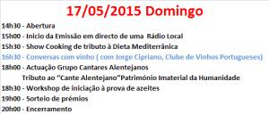 DOMINGO, DIA 17/05