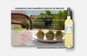 pCOGUMELOS COM CAMARÃO E COCKTAIL DE ABACATE