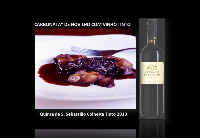 """CARBONATA"""" DE NOVILHO COM VINHO TINTO"""