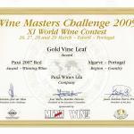Diploma Ouro-Paxá Tinto 2007