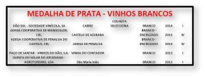 MEDALHA DE PRATA - VINHOS BRANCOS