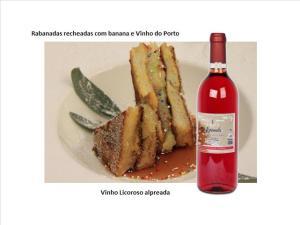 Rabanadas recheadas com banana e Vinho do Porto
