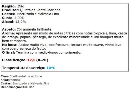 apreciacao Quinta da Ponte Pedrinha Branco 2014