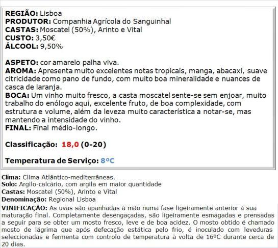 apreciacao Sottal Regional Lisboa Leve Branco