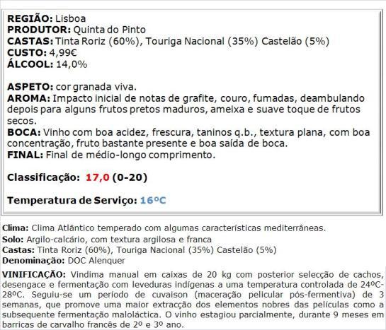 apreciacao Vinhas do Lasso Tinto Colheita Seleccionada 2013