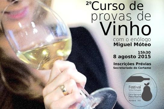 Ontem houve um curso de prova de vinhos ministrado pelo enólogo Miguel Móteo.