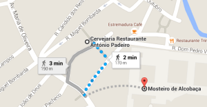 3 - Do  Mosteiro de Alcobaça ao Restaurante António Padeiro