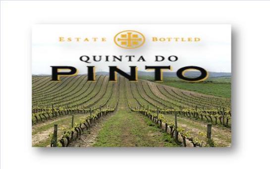 Quinta do Pinto, SA. Quinta do Anjo Aldeia Galega da Merceana 2580 - 081 Alenquer Lisboa, Portugal tel: + 351 919 100 800 fax: + 351 263 769 202  quintadopinto@quintadopinto.pt