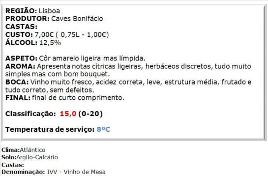 apreciacao Bonifácio Branco Bag-in-Box