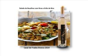 Salada de Bacalhau com Broa e Grão de Bico