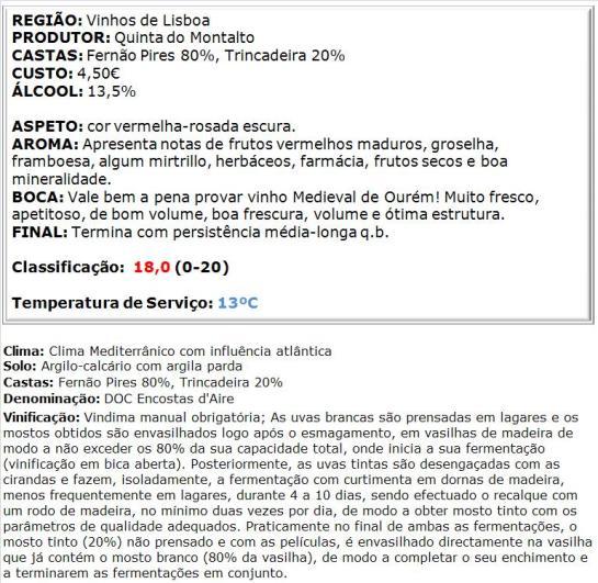 apreciacao Medieval de Ourém DOC Encostas d'Aire 2013