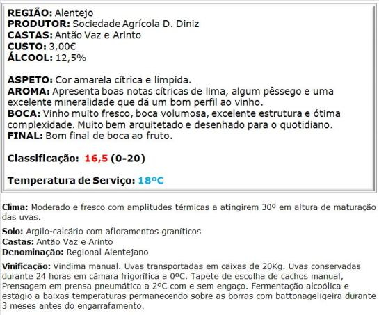 apreciacao Fonte da Serrana Branco 2014