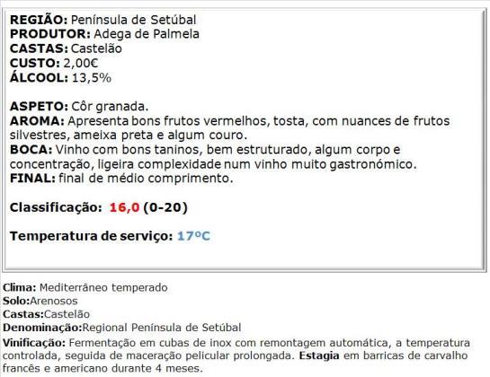 apreciacao Vale dos Barris Castelão Tinto 2013
