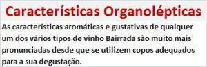 BAIRRADA Características Organolépticas